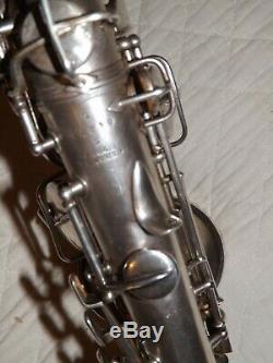 1922 Conn New Wonder Pre-Chu Curved Soprano Sax/Saxophone, Silver, Plays Great