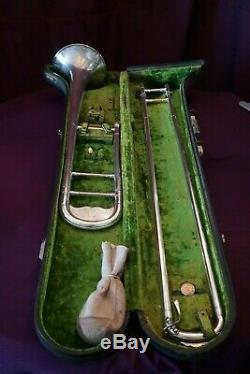 1924 Buescher Grand True Tone Professional Tenor Trombone made in Elkhart Ind