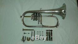 1925 Couesnon Monopole Flugelhorn Bugle With #8 Mouthpiece And Case Vintage Old