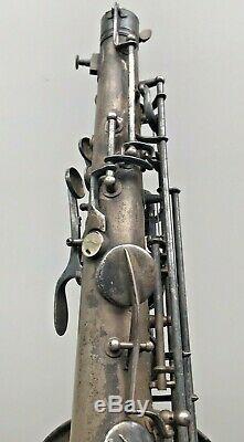 1927 Conn Chu-berry Tenor Saxophone No Dents Closeup Pix + Video Needs Overhaul