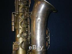 1948 The Martin Committee III Alto Saxophone Rare Silver Plate Finish