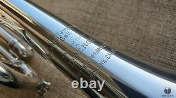 1957 E. Benge BURBANK, ML bore, ORIGINAL SILVER PLATING! GAMONBRASS trumpet