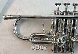 2002 Silver Plated Bach Stradivarius 180S43 Professional Bb Trumpet