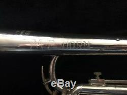 AWESOME PLAYER M FERGUSON HOLTON ST302 TRUMPET SILVER LBORE ORIG CASE Bach MPC