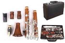 Advance Professional Rosewood Clarinet Bb key Clarinet Silver Plated Key Case