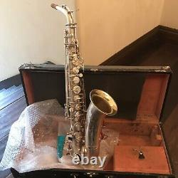 Alto Saxophone Martin Recording King Fully Restored /custom Pads Silver Plate
