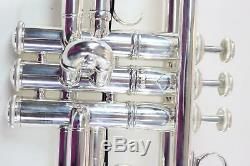Bach Model AB190S Artisan Stradivarius Bb Trumpet in Silver Plate MINT CONDITION