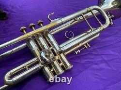 Bach Mt. Vernon Bb Stradivarius Trumpet, vintage, 1950s, silver plated