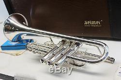 Bach Stradivarius 304 Eb (flat) PRO Trumpet Professional W Hard Case SILVER MINT