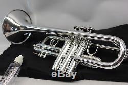 Bach Stradivarius 304 Eb (flat) PRO Trumpet Professional W Hard Case SILVER NICE