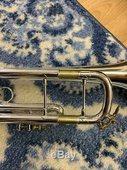 Bach Stradivarius 37 ML Trumpet Professional Horn With Gold Accents. Excellent