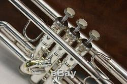 Bach Stradivarius 37 ML Trumpet SILVER Professional Horn Great Sound with Case