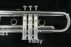 Bach Stradivarius Artisan AB190S Silver Plated Trumpet Bb & New 3517C Mouthpiece