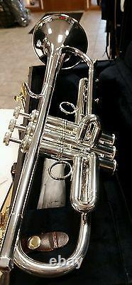 Bach Stradivarius LT190S1B Vintage Design SILVER Trumpet Lightweight Bell Outfit
