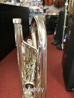 Bach Stradivarius Model 184S Silver Cornet with Mouthpieces and Hardshell Case