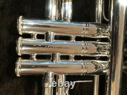 Bach Stradivarius Model 37 Trumpet Silver plate with case