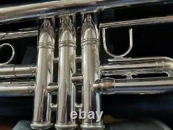 Bach Stradivarius Model 43 Silver Bb Trumpet With Extras. Just Serviced