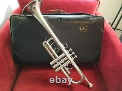 Bach Stradivarius Professional C Trumpet Silver Model 229 With Protector Case Used