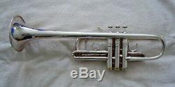 Bach Stradivarius Professional C Trumpet Silver Plate 229 Bell 25A Leadpipe