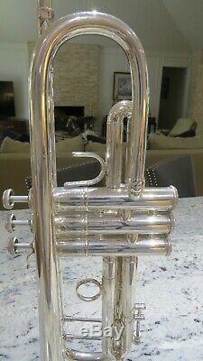 Bach Stradivarius Silver Bb Trumpet Model 37 Heavy Silver Vintage Professional