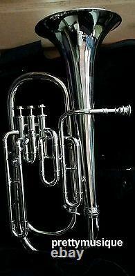 Baritone Of Pure Brass In Silver Chrome +hard Case Box + Mouthpc + Free Shipping