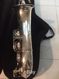 Beautiful Heavy Silver Plated Rampone Cazzani R1 Jazz Tenor Saxophone Excellent