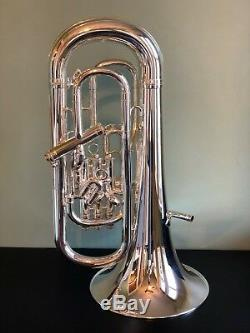 Besson Sovereign Euphonium BE967 Silver Demo Model