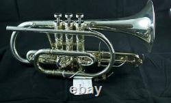 Brand New Adams Cornet Selected Model Trumpet in Silver Plate