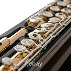 Brand New PEARL Flute CD958 RBE in. 958 Silver withROSE GOLD Plating ShipsFREE