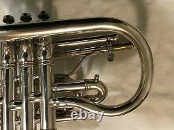 Brua KEEFER silver cornet outfit Bb/A