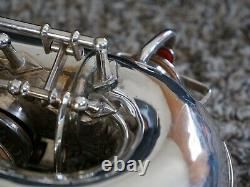 Buescher 400 Top Hat and Cane Alto Saxophone Silver Plated with Nortons/Snaps