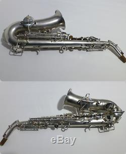 Buescher CURVED SOPRANO Saxophone, Silver Plated, Vintage, Low Pitch, Play READY