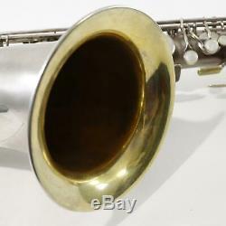 C. G. Conn Chu Berry Baritone Saxophone SN 189572 SILVER PLATE EXCELLENT