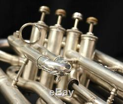C. G Conn Connstellation Silver 4-Valve Professional Euphonium Great Player