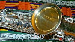 CG Conn Selver plated Chu Berry Alto Saxophone