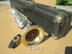 CONN SILVER PLATED Bb SOPRANO SAXOPHONE CIRCA 1925 EXCELLENT VINTAGE SOUND