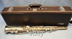 Conn New Wonder Series II Soprano Saxophone #196067. Satin silver, gold bell