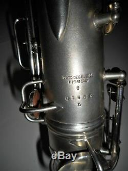 Conn Silver Plated C Melody Saxophone #61555