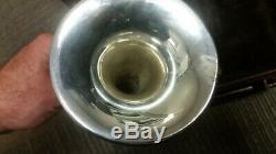 Crazy-rare Bach Stradivarius 4-valve 196 Bb/A piccolo trumpet in silver