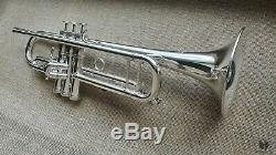 D. Calicchio ULTRA 1s/7 LARGE BORE, silverplated GAMONBRASS trumpet