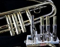 Double Bell 4 Valve Bb Trumpet Selmer K-Modified 24B and Conn Vocabell W-Case