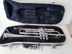 E-BENGE RESNO TEMPERED BELL CG USA Bb TRUMPET SILVER PLATED