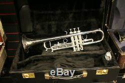 Getzen 900S Eterna Classic Bb Trumpet, Clear Lacquer Over Silver Plating