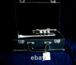 Getzen Capri Piccolo Trumpet with Case and Bb and A Leadpipes, Silver Plated
