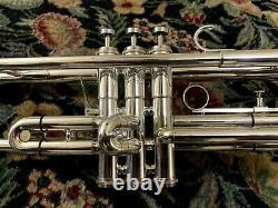 Getzen Severinsen Eterna Silver Plated Bb Trumpet 1973 1st Trigger, Case, MP