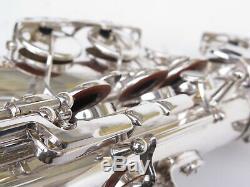 Great 1962 Selmer Mark VI alto saxophone. Original silver. # 94163