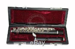 Grenadilla Wood Body&Head Piccolo C Key Piccolo Silver Plated Keys