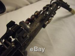 H. N. WHITE KING SILVER PROFESSIONAL Bb CURVED SOPRANO SAXOPHONE