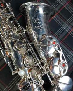 Henri Selmer Paris Mark VI legendary pro alto saxophone in RARE silver plate mk6