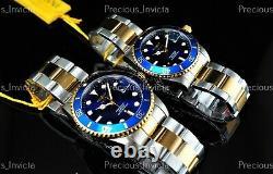 Invicta 38mm & 42mm Men's & Women's Pro Diver Two Tone Quartz Two Watches Set
